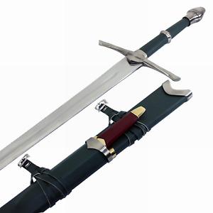 Aragorn Strider Ranger Sword with knife green color replica