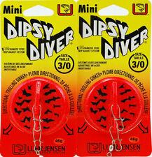 (Lot Of 2) Luhr Jensen Dipsy Diver Size 3/0 5560-030-0584 Crystl Hot Tigr Ap1401