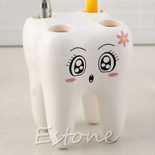 4 Holes Tooth Style Toothbrush Holder Cartoon Design Kids Bathroom Decoration