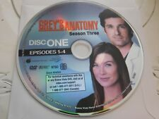 Greys Anatomy Third Season 3 Disc 1 Replacement DVD Disc Only 61-128