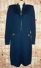 VTG St.John Collections Couture by Marie Gray Santana Knit Dress Deep Teal Sz 6