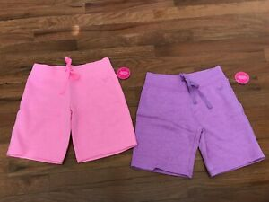 NWT Justice Pink or Purple Bermuda Shorts Size 8 - Choose Your Color