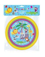 x 1 Pack de 8 platos fiesta - Niños Animales la Selva Cumpleaños tamaño Placa