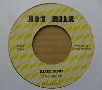 "BARRY BROWN - Love Jah So - 7"" Vinyl - HOT MILK - 🇧🇴 ROOTS REGGAE / DUB"