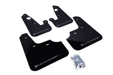 Rally Armor Mud Flaps Guards for 08-15 Lancer & Ralliart (Black w/Silver Logo)