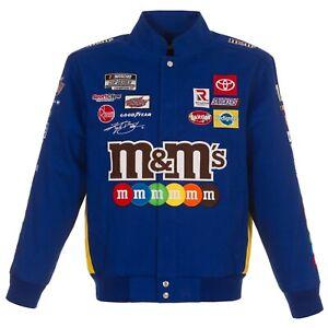 2021  Authentic Kyle Busch JH Design M&M's Snap  Blue Uniform Cotton Jacket