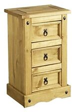 Corona 56cm-60cm Bedside Tables & Cabinets with 3 Drawers