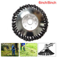 Weed Brush Trimmer Head Steel Wire Grass Cutter Lawn Mower Replacement Tool New#