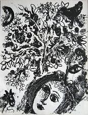 MARC CHAGALL - Couples avant Baume (1960). lithographie originale, Mourlot 292
