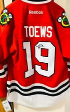 Jonathon Toews Chicago Blackhawks Jersey NWT Mens Size Large Stitched Autograph