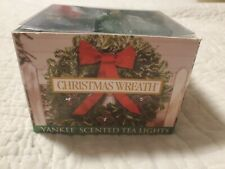 YANKEE CANDLE CHRISTMAS WREATH TEA LIGHTS BOX OF 11 HOLIDAY SCENT
