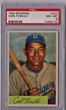 1954 Bowman Carl Furillo #122 PSA 8 P552