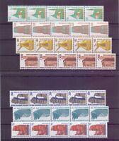 Berlin 1986/89 - Alle 15 Werte Sehenswürdk. 5erStreifen - Michel 293,00 € (400)