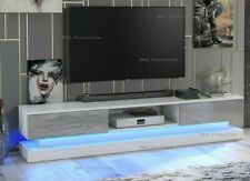 Amazing 180cm TV Unit furniture Stand  Matt Body & High Gloss Doors LED Light UK