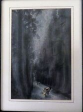 "Eiichi E. Kotozua ""Avenue of Chryptomeria in Nikko"" Japanese Woodblock"