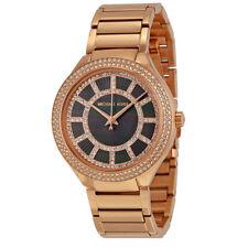 New Michael Kors MK3397 Kerry Black Pearl 37mm Case Dial Rose Gold Women's Watch