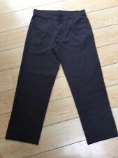 Mens Trousers- Matalan- Dark Grey Pinstripe- Waist 34 Leg 29