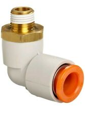 SMC KQ2L07-35AS PBT & Brass, Push-to-Connect Tube Fitting with Sealant (10-Pack)