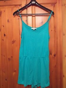 BRAVE SOUL GREEN SHORTS PLAYSUIT SIZE MEDIUM