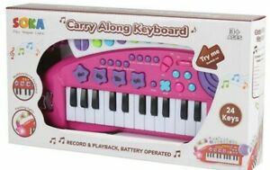 SOKA Piano Carry Along Keyboard Musical Instrument Play Children Toys