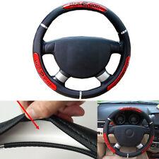 Dragon Word Non-Slip Steering Wheel Cover Red Black Anti-Slip 38cm/15' car auto