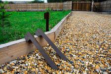 Adjustable Angle Timber Railway Sleeper Driveway Path Edge Bracket - Brown