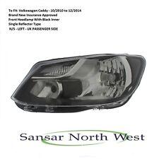 For Volkswagen Caddy Passenger Front Headlamp Headlight N/S LEFT Single 10>15