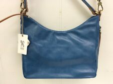Hobo Bags Genuine Leather Delilah Bayou Blue Purse Crossbody Handbag Retail $268