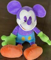 "Disneyland Mickey Mouse 18.5"" Plush Purple Blue Retired Plush"