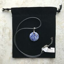 Aura Gemstones Blue Real Rock Necklace. New With Tag