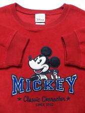 DISNEY MENS XL FLEECE WINTER SWEATER RED RARE EMBROIDERED MICKEY MOUSE LOGO