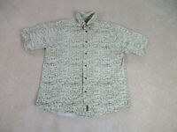 Woolrich Button Up Shirt Adult Extra Large Green Outdoors Casual Cotton Mens
