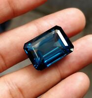 London Blue Topaz Rarely Large size Emerald Cut 57 ct Flawless Clarity Gemstone