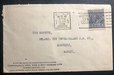 1936 Sydney Australia Slogan Cancel Cover To Honolulu Hawaii Centenary