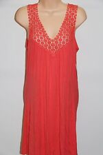 New Kenneth Cole Bikini Swimsuit Cover Up Dress Sz L Coral