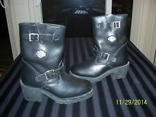 Harley-Davidson engineer motorcycle biker 7 M boots worn once?