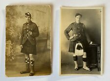 Two Vintage Postcards...Gordon Highlanders & Other, Scotland, Military, Bagpipes
