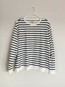 Curve Plus Size ASOS Blue/White Stripe Jumper Size 26 - Pre owned