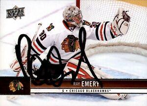 Ray Emery Signed 2012-13 Upper Deck Card #38 Chicago Blackhawks