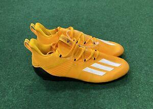 New Adidas Adizero Football Cleats EH1314  Black/Yellow Mens Size 12