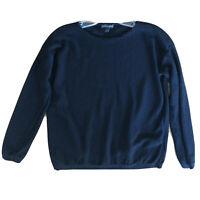 Eileen Fisher Women's Sweater Long Sleeve Wool Tencel Crew Neck Pullover Size XS