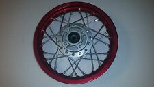 "Red Anodised  Alloy 10"" Front Whel Atomik Pitpro,Dirt Bike 12mm Axle"