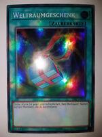 Yu Gi Oh Karten selten Weltraumgeschenk Space Gift Super Rare OP08 TOP