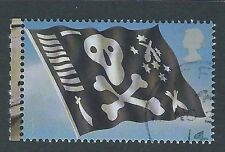 GREAT BRITAIN 2009 ROYAL NAVY BOOKLET STAMP , JOLLY ROGER FINE USED