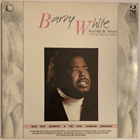 BARRY WHITE SATIN & SOUL 2-LP UK 1987 GREATEST HITS EX CONDITION PRO CLEANED