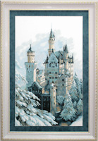 EMBROIDERY KIT COUNTED CROSS STITCH CHARIVNA MIT WINTER CASTLE IN SNOW M-98