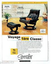 PUBLICITE ADVERTISING 125  1996  STRESSLESS fauteuils sièges repose-pieds