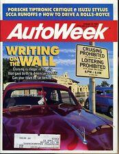 AutoWeek Magazine October 22, 1990 Porsche Tiptronic Critique Isuzu Stylus