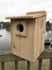 "Kestrel Hawk Screech Owl Nest 3/4"" Solid Cedar House Nesting Box FREE SHIPPING!!"