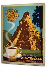 Tin Sign XXL Kitchen Guatemala coffee
